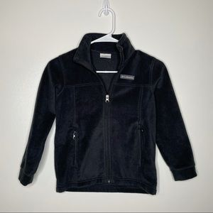 Columbia Black Full Zipper Fleece Size Small 8